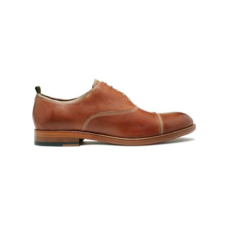 johnston murphy shoes johnston murphy clayton cap toe lace shoes in brown for