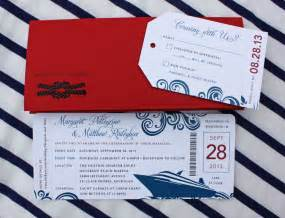 blue swirl yacht cruise boarding pass wedding invitations emdotzee designs