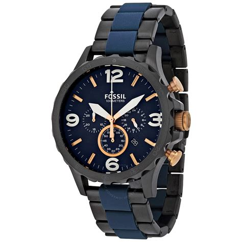 Fossil Fs5347 Fossil Nate Chronograph Blue S Jr1494