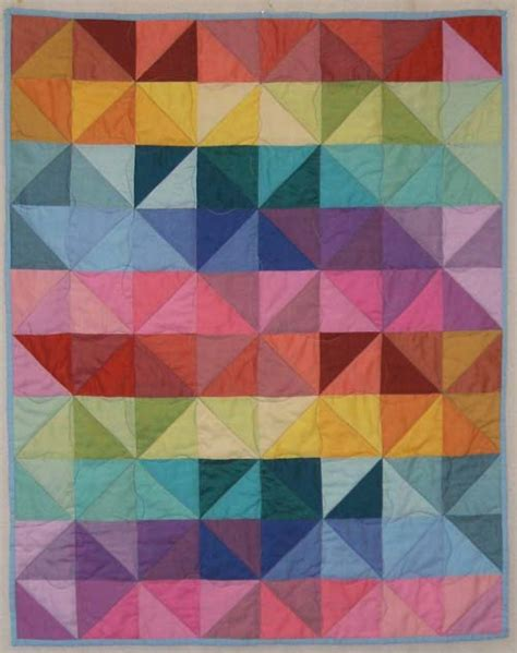 Free Patchwork Cot Quilt Patterns - helen howes textiles free pattern many triangles wall
