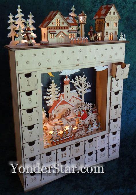 lighted wooden advent calendar pre order  christmas wooden advent calendar wood