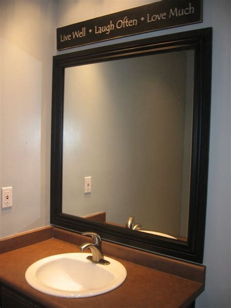 Bathroom Mirror Frame by Framed Mirror Blue Cricket Design