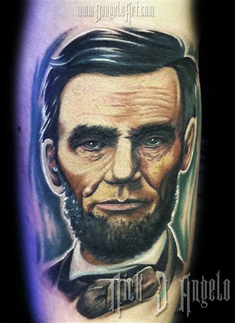 abraham lincoln tattoo abe lincoln by nickdangelotattoos on deviantart