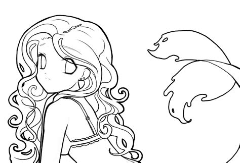Heboh Sweater Tumbler Simply Ghost mermaid lineart by destinyblue on deviantart