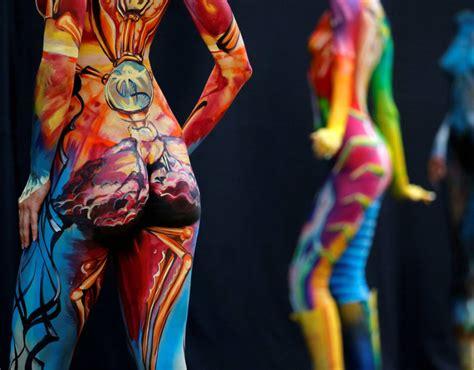 world bodypainting festival 2016 a model poses during the world bodypainting festival in