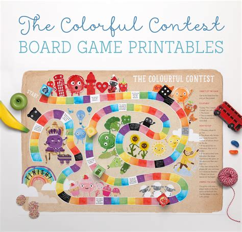 printable toddler board games free colourful contest board game printable