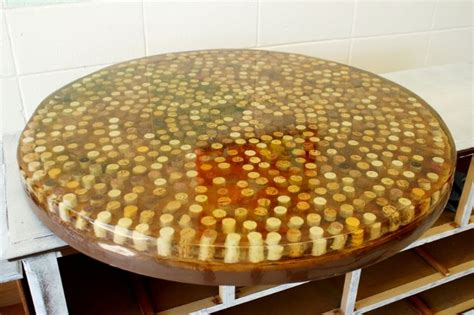 wine cork table top resin pin by mar 237 a coloma on home decor
