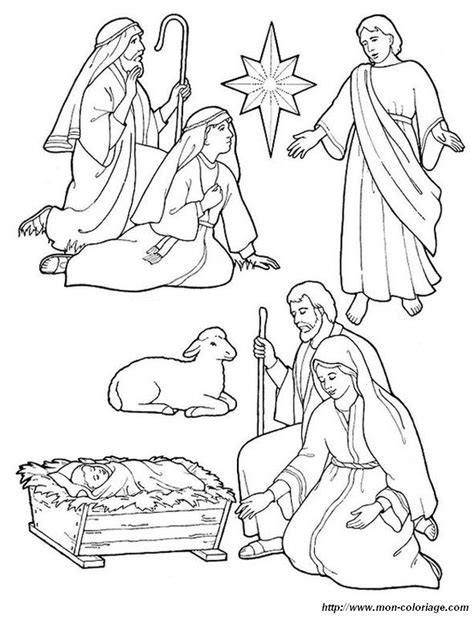 free nativity figures coloring pages