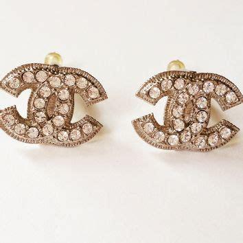 Blink Gold Chanel Shop Chanel Earrings Cc On Wanelo
