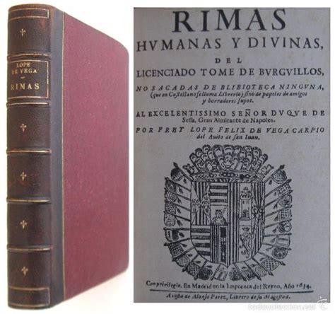libro rimas humanas y divinas 1634 lope de vega rimas humanas y divinas comprar libros antiguos de poes 237 a en