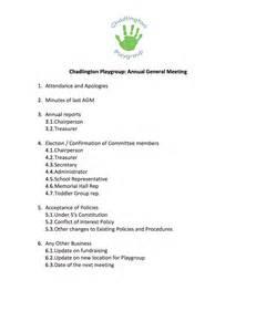 agenda for agm template chadlington playgroup agm 187 chadlington website