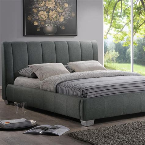 baxton bed baxton studio marzenia gray queen upholstered bed 28862