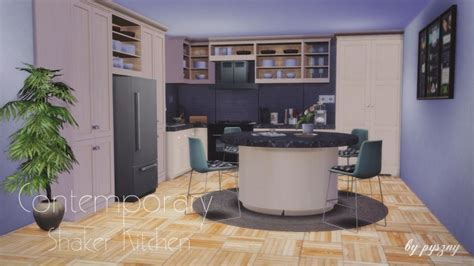 shaker update for a connecticut kitchen contemporary contemporary shaker kitchen at pyszny design 187 sims 4 updates