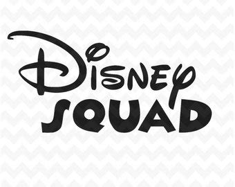 Disney In Squad disney squad svg etsy
