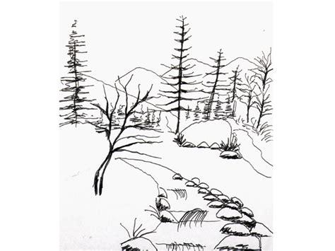 imagenes en blanco ynegro para dibujar como pintar un paisaje en blanco y negro imagui