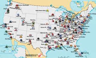 us map by college football college football playoff college football fan map