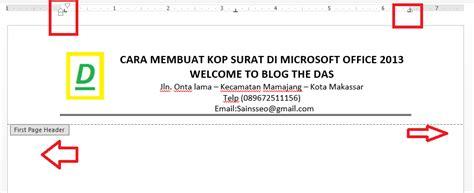 cara membuat kop surat microsoft excel cara membuat kop surat di microsoft office 2013 terbaru
