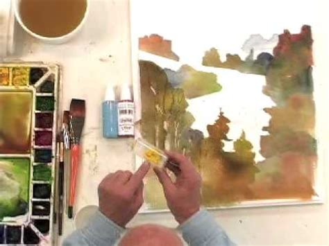 cheap joe s watercolor tutorial watercolor painting with spray bottle effects cheapjoes
