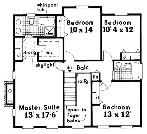 colonial style house plan  beds  baths  sqft