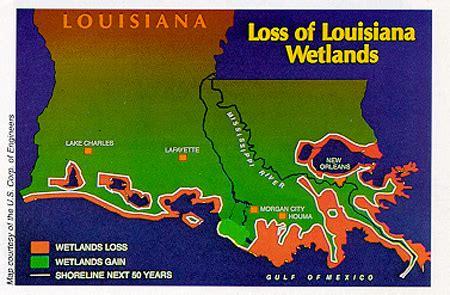 louisiana map erosion ahi united states 187 new orleans images of its future