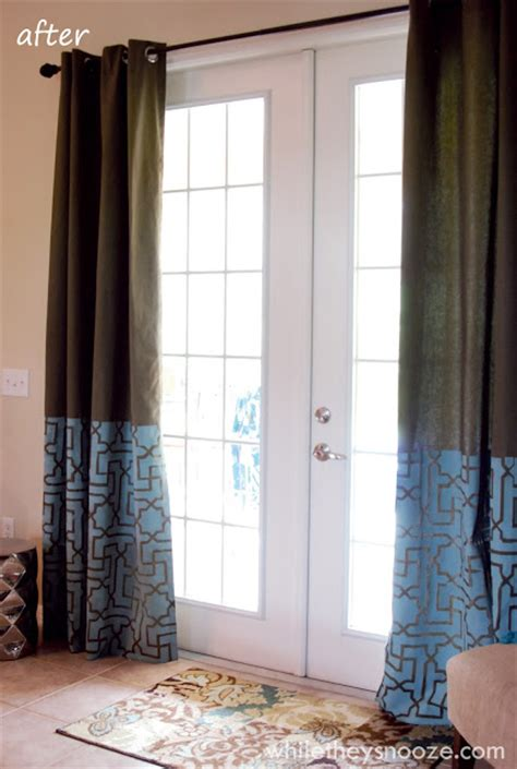 stenciled curtains while they snooze stenciled curtains tutorial royal