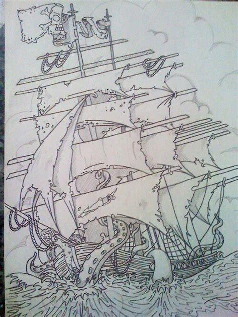 kraken pirate ship design by pin updoll on deviantart