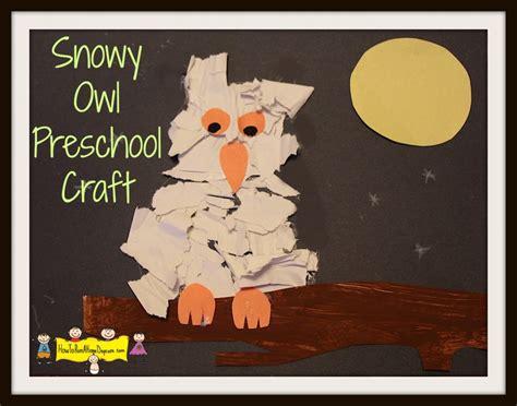 Paint Snowy Owls Tippytoe Crafts Preschool Books - snowy owl preschool craft how to run a home daycare
