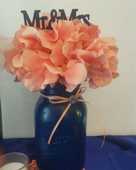 navy and coral wedding centerpieces 25 best ideas about coral centerpieces on