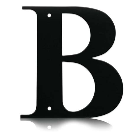 the b wrought iron letter b