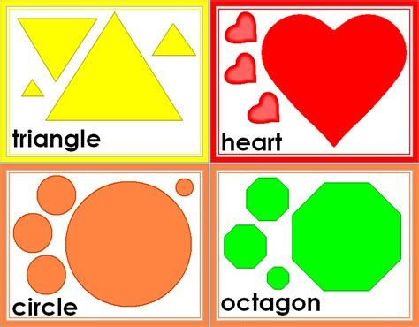 Free Shape Templates For Card by Free Shapes Free Printable Shape Flashcards Great For