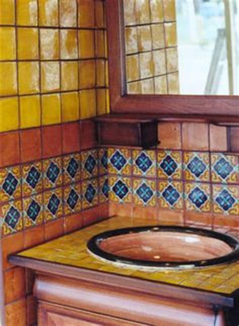 Handmade Bathroom Tiles - mexican decor on mexican interior design
