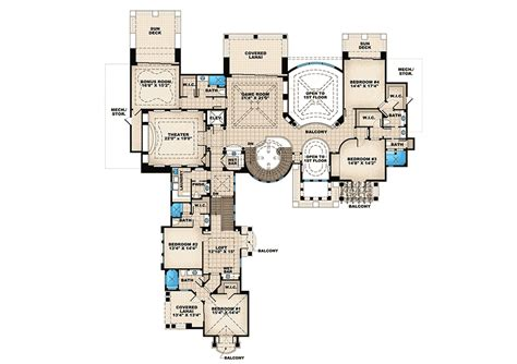 Tuscan Style Floor Plans by Architectural Designs