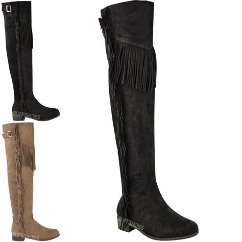 womens the knee thigh high boots flat