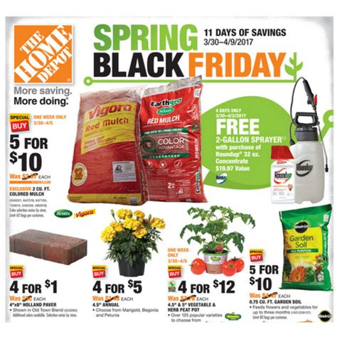 home depot black friday sale 2017 3 30 4 9
