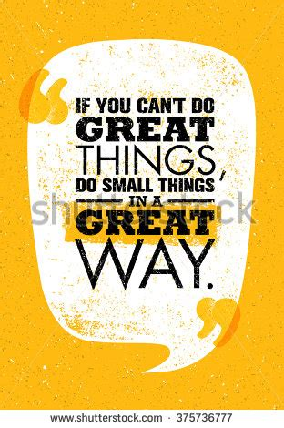 poster design quotation you cant do great things do stock vector 375736777