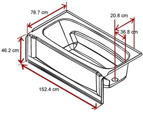 standard length of a bathtub bathtub length width and depth build