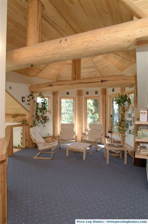 Interior Log Home Pictures by Peco Log Homes Log Home Pictures