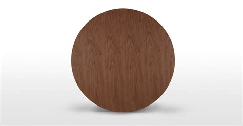 Edelweiss Round Dining Walnut And Black Made Com