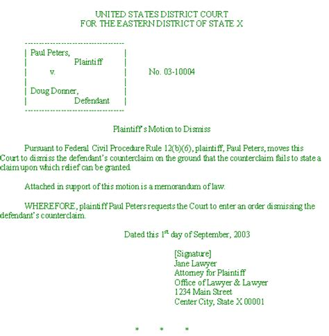 motion to dismiss template motion to dismiss template out of darkness