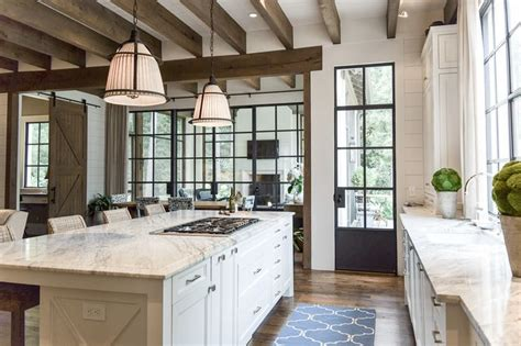 Vastu Transcendental Home Design In Harmony With Nature Kitchen With Beams And Iron Windows And Doors Pritchett