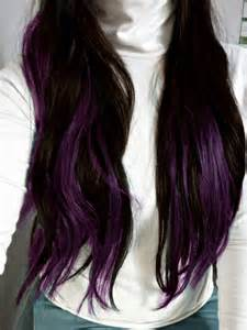 color underneath hair brown hair with purple underneath pretty hair