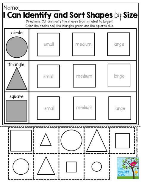 Sorting Shapes Worksheets For Kindergarten by Back To School No Prep Math And Literacy Packet