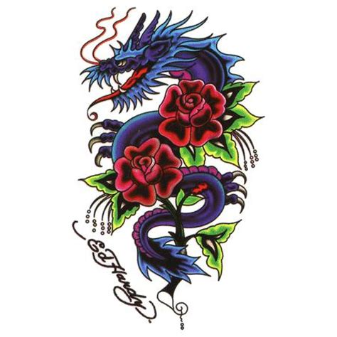 rose and dragon tattoos images designs