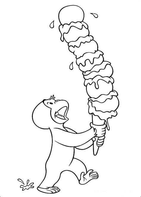 Free Curious George Coloring Pages free coloring pages curious george coloring pages