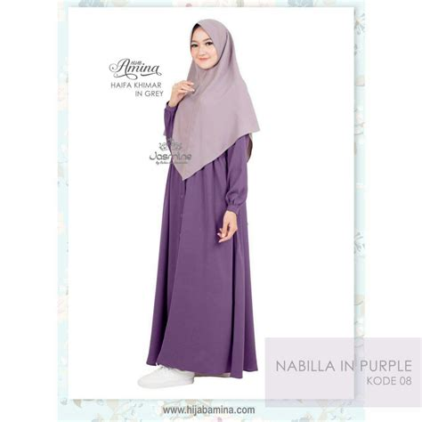 Gamis Nabilla 02 nabilla dress kode 8 purple hijabamina