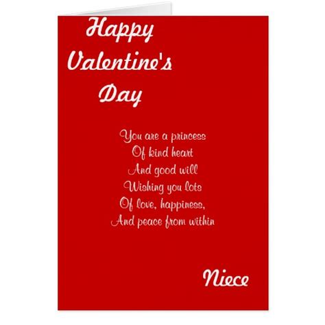 happy valentines day niece images my niece on s day greeting card zazzle