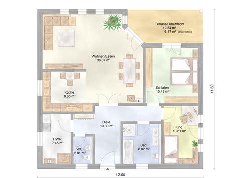 Haus Mit überdachter Terrasse by Bungalow Mit 220 Berdachter Terrasse Gussek Haus Bungalows