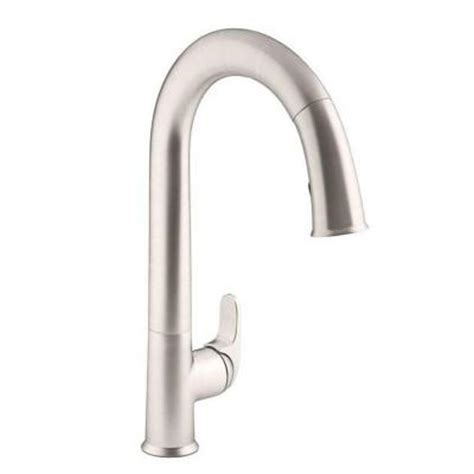 touchless faucet kitchen kohler sensate ac powered touchless kitchen faucet in vibrant stainless with docknetik and sweep