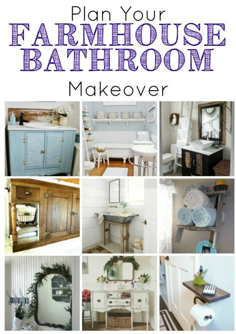 diy bathroom remodel project plan farmhouse bathrooms and projects knick of time