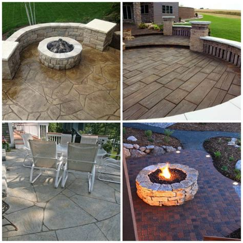 Inspiring Patio Design Ideas With Stamped Concrete   Patio